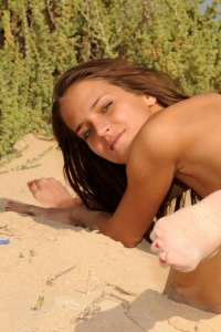 Silvie Deluxe Strips Off Her Sexy Micro Bikini 07