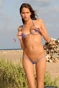 Silvie Deluxe Strips Off Her Sexy Micro Bikini 09