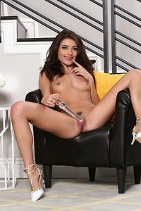 Smiley Babe Adria Rae Plays With A Huge Glass Dildo 11