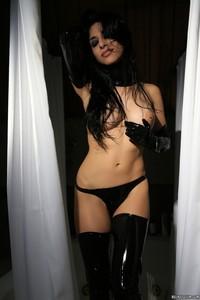 Idelsy Love Black Latex Panties And Gloves 06