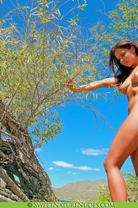 Sexy Nude Cali Logan Under The Tree 06