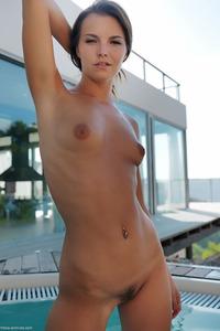 Carina Sensual Posing Near The Pool 06