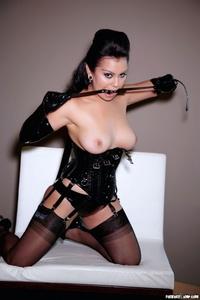 Caroline Aquino Black Corset 02