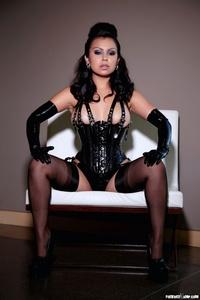 Caroline Aquino Black Corset 11