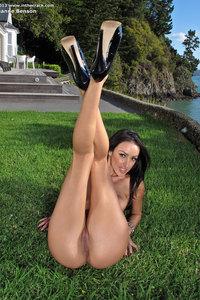 Breanne Benson Sexy Strip In The Garden 09