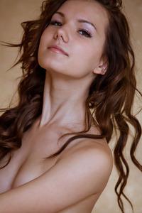 Brunette Iva Posing In Hot Black Pants 13