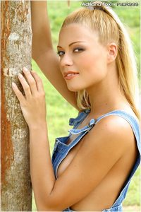 Blond Beauty Adriana Malkova Fingers Her Tight Pussy 00