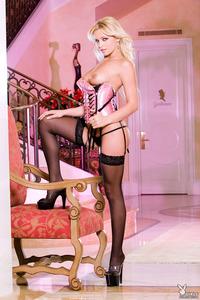 Cristina Nelutescu In Sexy Pink Corset 04