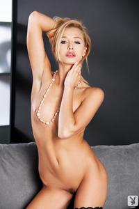 Czech International Playboy Model Coxy Wearing A Sexy Satin Lingerie 17