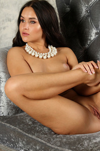 Beautiful Girl Stephie Love Spreading On The Sofa 15