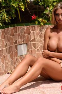 Danielle Anderson In Sexy White Mesh Bodysuit 05