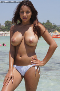 Lacey Presenting Her Beautiful Natural Breasts On The Beach 10