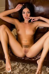 Marley Brinx Takes Off Her White Panties