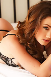 Jess Impiazzi Sexy Babe In Black Stockings