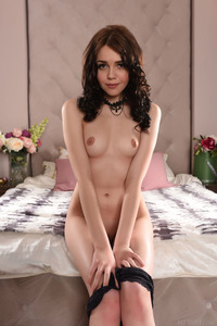 Brunette Cutie Lily Sands Undressing And Posing 04