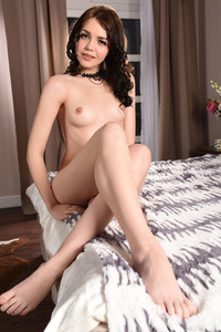 Brunette Cutie Lily Sands Undressing And Posing 06