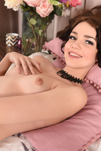 Brunette Cutie Lily Sands Undressing And Posing 09