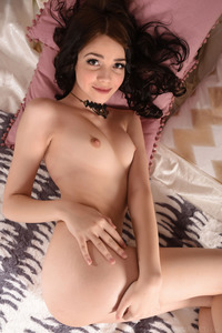 Brunette Cutie Lily Sands Undressing And Posing 11