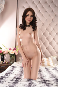 Brunette Cutie Lily Sands Undressing And Posing 13