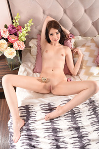 Brunette Cutie Lily Sands Undressing And Posing 19