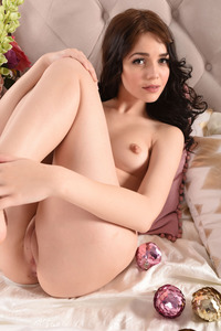 Brunette Cutie Lily Sands Undressing And Posing 20