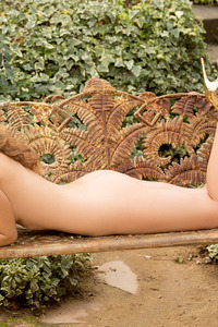 Amberleigh West Naked In The Garden 09