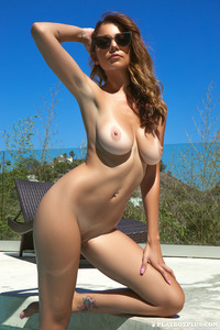 Sexy Playmate Ali Rose Naked In The Pool 17