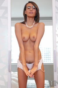 Skinny Latina Girl Janice Griffith Strips Off Her Sexy Bodysuit 06