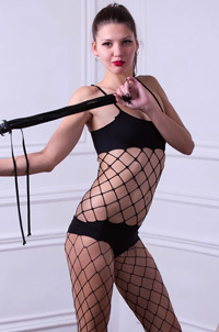 Hot Wild Teen Abigail A In Fishnet Set